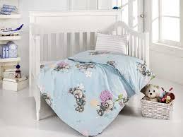 <b>Комплект</b> детского <b>постельного белья Altinbasak</b> Yumak голубой