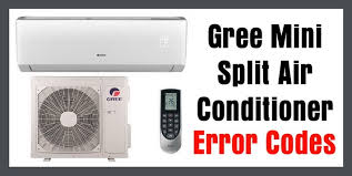gree mini split air conditioner error codes how to fix