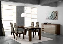 Contemporary Black Dining Room Sets Stylish Low Ceiling Light Feat Upholstered Chairs Design And