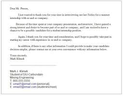 Sample Thank You Note College Interview Milviamaglione Com