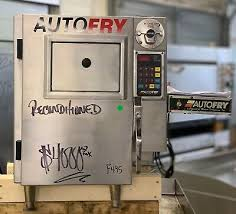 autofry mti 5 ventless hoodless automatic electric countertop fryer w heat lamp