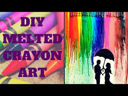 melted crayon art with hair dryer