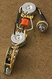 amazon com les paul wiring harness 525k cts potentiometers mojotone mojotone es-335 wiring harness telecaster wiring harness for fender tele cts orange drop switchcraft