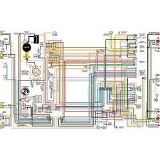 chevy color laminated wiring diagram 1958 1974 eckler s late chevy color laminated wiring diagram 1958 1974