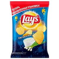 <b>Чипсы</b> Lay's <b>картофельные Сметана и</b> лук рифленые — <b>Чипсы</b> ...