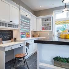 office craft room ideas. Example Of A Trendy Gray Floor Craft Room Design In Portland Office Ideas
