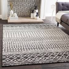 e black white bohemian area rug 7 10 x 10 3 on free today 21279244