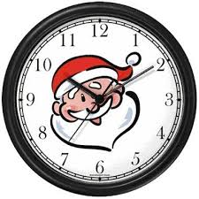 santa claus face images. Unique Claus Santa Claus Face Cartoon Christmas Theme Wall Clock By WatchBuddy  Timepieces White Frame Inside Images L