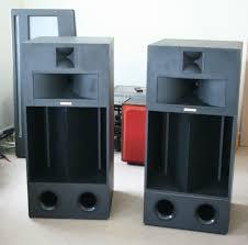 klipsch sw 350. very special pair of klipsch la scala speakers. birch ply cabinets, superb sound sw 350