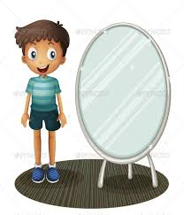 child looking in mirror clipart. buy boy standing beside the mirror by interactimages on graphicriver. illustration of a white background child looking in clipart r