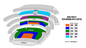 New Jersey Performing Arts Center Seating Chart Newark New Jersey Performing Arts Center Saalplan