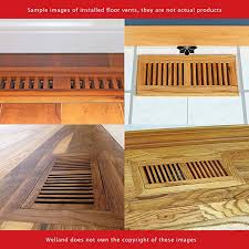 welland 2 inch x 12 inch hickory hardwood vent floor register flush mount unfinished heating vents amazon