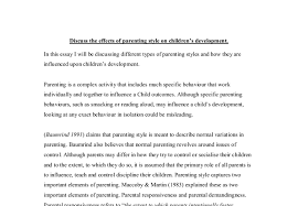 discuss the effects of parenting style on children s development document image preview