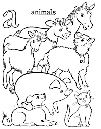 Printable Farm Animals Coloring Pages Old