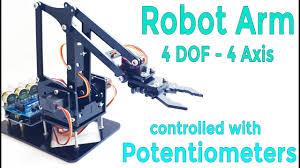 <b>DIY</b> Arduino <b>Robot Arm</b> Kit | Control with Potentiometer | <b>4 DOF</b> ...
