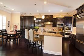 dark wood modern kitchen cabinets. Dark Kitchen Cabinets With Wood Floors Light Modern Cabinet Green Marble Geometric Shape Island Countertop Using Granite Brown Chair