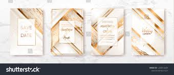 Gold Black White Marble Template Artistic Covers Design