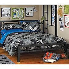 Amazon.com: Black Full Size Metal Bed Platform Frame, Great Addition ...
