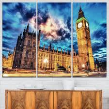 designart mt7765 3p big ben house of parliament cityscape photo glossy metal wall art blue 36x28 on big ben metal wall art with souq designart mt7765 3p big ben house of parliament cityscape