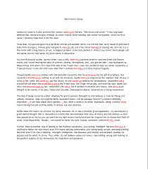 the admissions essay application essay