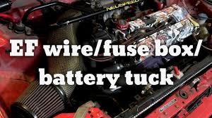 honda civic ef hatch wire fuse box battery tuck