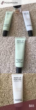 a bundle of it includes makeup forever mufe brand ultra hd foundation in albaster grwm make up for ever step 1 skin equalizer redness correcting primer