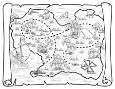 Small Picture pirate treasure map coloring pages Printables Pinterest
