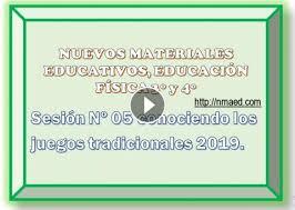 Thanks for giving my program a chance! Sesion Nº 05 Conociendo Los Juegos Tradicionales 2019