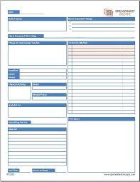 Daily Planner Sheets Free Daily Planner Template Spreadsheetshoppe