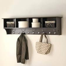 office coat hook. Inspiring Furniture Espresso 9 Hook Mounted Coat Rack Modern Office Hooks