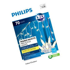 Philips String Lights Philips 70ct Warm White Led Icicle Mini String Lights 741895246776 Ebay