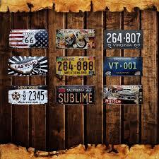 Diy wall decor ideas 1. Las Vegas Home Wall Decor Metal Poster Texas Us 66 Vintage Tin Signs Maine California New York Car Number License Plate Yn068 Sign Plate Home Decorplate License Aliexpress