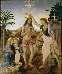 verrocchio and leonardo the bapism of christ