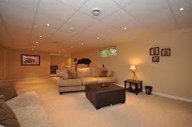 contemporary basement lighting drop ceiling