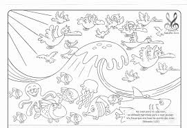 Unusual Creation Coloring Sheets Pages Free Printable Bible Days