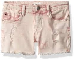 Hudson Size Chart Hudson Toddler Girls Fashion Short Pink Coral Acid Wash 3t