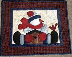 Quilted wall hanging   Etsy & Snowman Quilted Wall Hanging Adamdwight.com