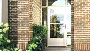custom wood storm screen combination insert doors door glass larson replace storm