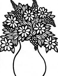 Small Picture Download Free Flower Vase Coloring Page For Kids Best Coloring