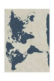 world map area rug vintage old