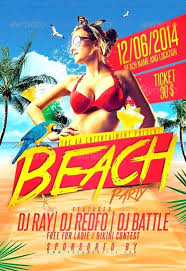 Beach Party Flyer Template Free Summer Psd – Vanilja