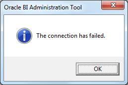 obiee error message obiee administration