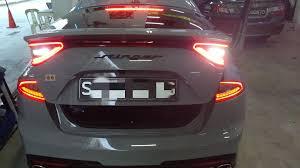 Kia Stinger Sequential Lights Kia Stinger Carbon Fibre Sticker Singapore Carbon Fibre