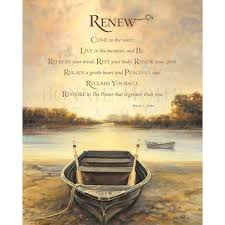 Bonnie Mohr Living Life Quote Amazing Renew Print Art Featuring Of Row Boat On A Lake With A Quote By