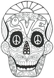 Sugar Skull Coloring Pages For Adults New Coloring Sugar Skull