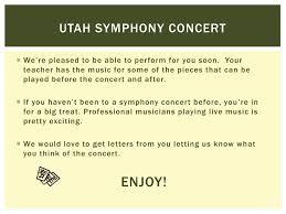 Utah Symphony Seating Chart Ppt Utah Symphony Concert Powerpoint Presentation Free