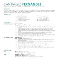 Sales Associate Qualifications Sales Associate Duties For Resume Cv Template Job Sample