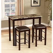 breakfast bars furniture. Roundhill Furniture Brando 3-Piece Counter Height Breakfast Set, Espresso Finish Bars E