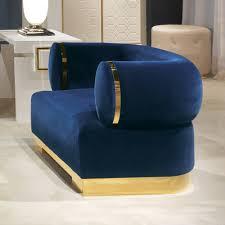 modern arm chair. High End Modern Italian Designer Blue Velvet Armchair Arm Chair