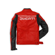 ducati leather jacket 80s red 14 dainese